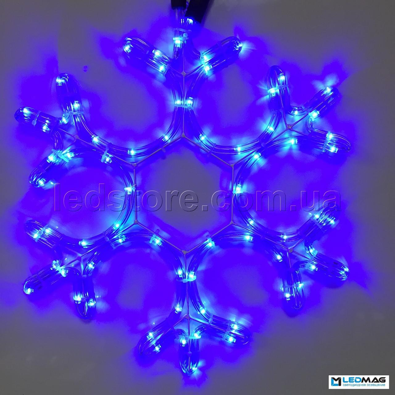Светодиодная фигура Снежинка DELUX MOTIF Snowflake 0.40*0.40м IP44 Синяя