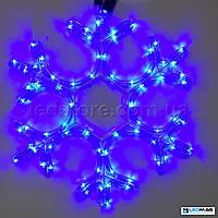 Светодиодная фигура Снежинка DELUX MOTIF Snowflake 0.40*0.40м IP44 Синяя, фото 1