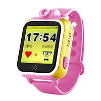 Детские часы-телефон Smart Watch Q200 розовые