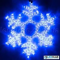 Светодиодная фигура Снежинка DELUX MOTIF Snowflake 0.55*0.55м IP44 Синяя, фото 1
