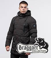 Куртка удлиненная на меху зимняя молодежная Braggart Youth - 25320T кофе