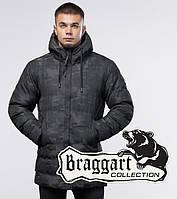 Куртка на меху зимняя молодежная Braggart Youth - 25380U черная