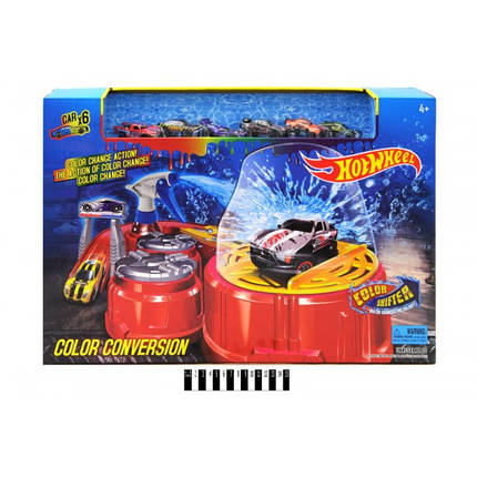 Автомойка Hot Wheel машинка меняет цвет 6761, 6 машин, фото 2