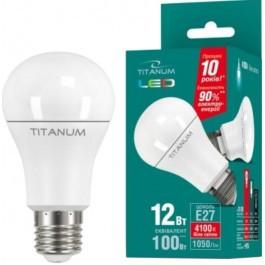 Светодиодная лампа TITANUM LED A60 12W E27 4100K 220V (ТL-A60-12274)