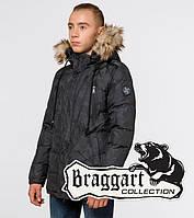 Куртка молодежная зимняя Braggart Youth - 25110S темно-серая