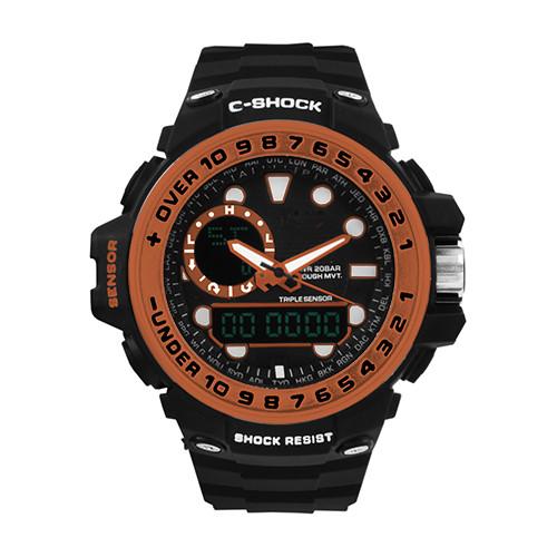 Годинники наручні C-SHOCK GWN-1000GB Black-Orange, BOX
