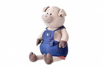 Мягкая игрушка Same Toy Свинка в джинсовом комбинезоне (45 см)