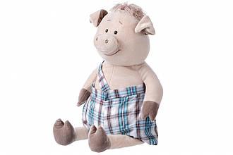 Мягкая игрушка Same Toy Свинка в комбинезоне (60 см)