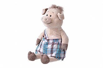 Мягкая игрушка Same Toy Свинка в комбинезоне (45 см)