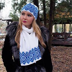 Комплект шапка и шарф украинский