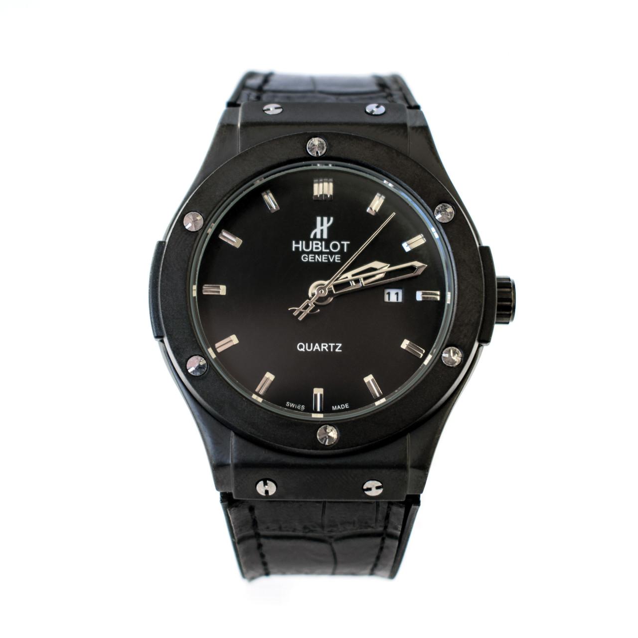 54af3c08c22d Мужские часы Hublot Big Bang черные (replica) - Интернет магазин Ocloc k в