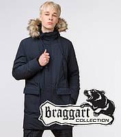 Braggart Youth | Парка зимняя молодежная 12-25 лет 25690 темно-синяя, фото 1