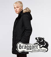Парка молодежная зимняя Braggart Youth - 25690K черная