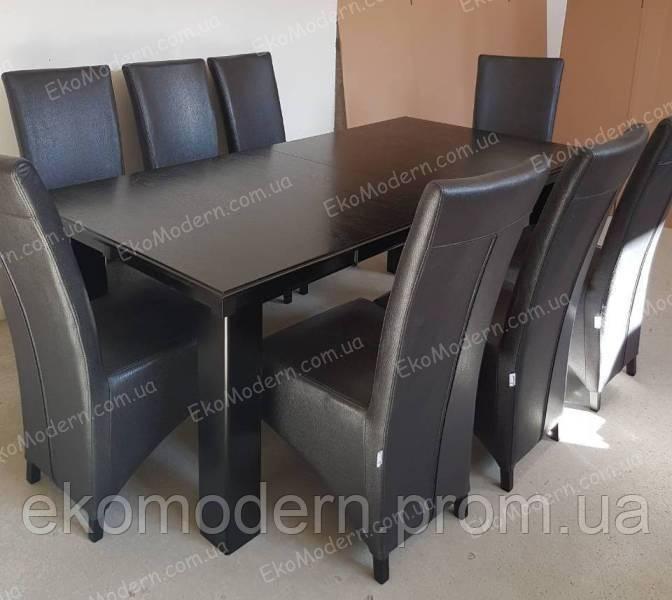 Обеденный комплект ЛАРИН + с большим столом