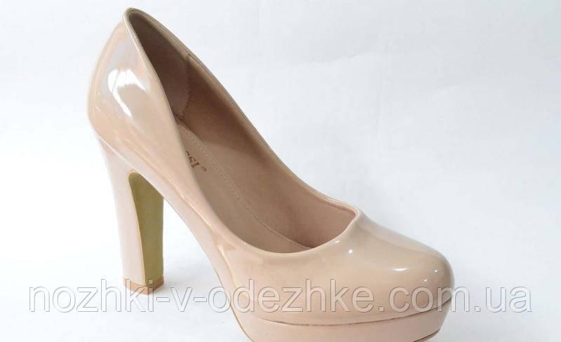 913b671e3 Лакировые бежевые туфли на высоком каблуке 40: продажа, цена в ...