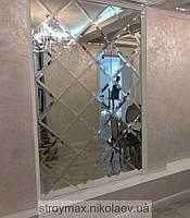Зеркальное панно 1305*2175 серебро фацет 25 мм (плитка 310 мм)
