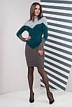 Тепле в'язане плаття для офісу щодня Ельза, 44-48, фото 3