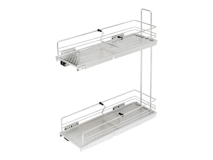 Карго фасад 200 бокове кріплення з дотягувачем GIFF хром (2 полиці)