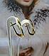 Рельефные золотые серьги, фото 3