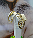 Рельефные золотые серьги, фото 4