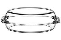 Кастрюля овальная (утятница) Borcam 59032 с крышкой, стекло, 1,9+1,9л