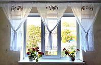 Комплект панельных шторок с розами, 2,5м, фото 1