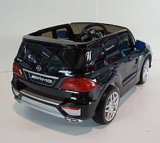 Детский Электромобиль Mercedes-Benz ML 63 EBRS черный, пульт Bluetooth 2.4G, колеса EVA, автопокраска, фото 3