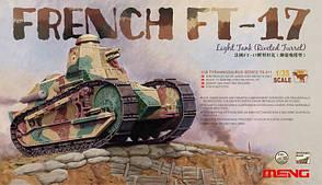Французский легкий танк FT-17 с облегченной башней. 1/35 MENG MODEL TS-011