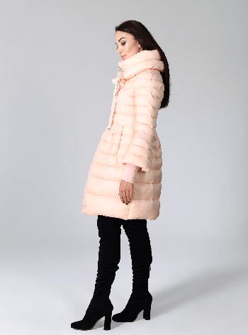 Элегантная зимняя куртка Сlasna CW17D135CW персикового цвета (#130), фото 2