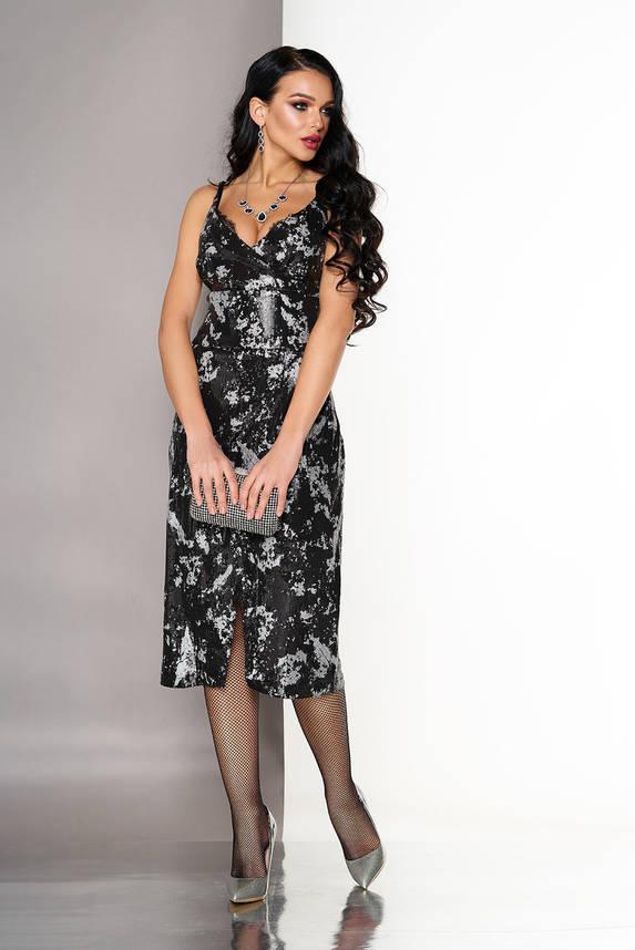 Нарядное вечернее платье-бюстье с пайетками, фото 2