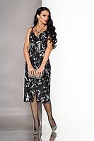 Нарядное вечернее платье-бюстье с пайетками
