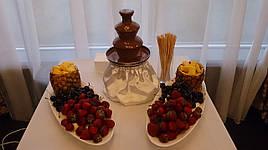 Аренда шоколадного фонтана на 1.5 кг шоколада (с шоколадом и обслуживанием)