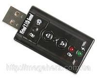 USB звуковая карта 3D Sound card 7 в 1 внешняя
