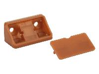 Кутник меблевий подвійний пластиковий GIFF кальвадос, фото 1