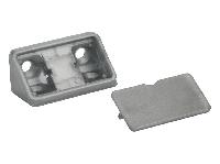 Кутник меблевий подвійний пластиковий GIFF сірий, фото 1