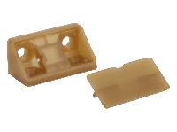 Кутник меблевий подвійний пластиковий GIFF бук баварія, фото 1