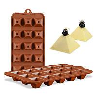 Форма для шоколадных конфет Пирамида, фото 1