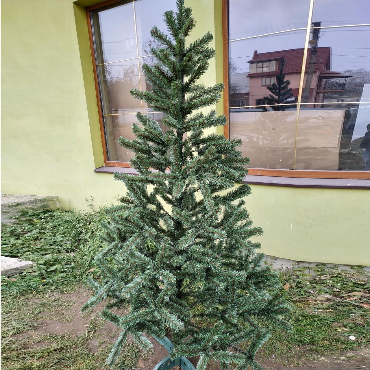 Ель искусственная новогодняя Смерека Зеленая с Белыми кончиками 35см СБК-0,35