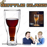 "Бокал с формой бутылки - ""Bottle Glass"" - Оригинал!, фото 1"