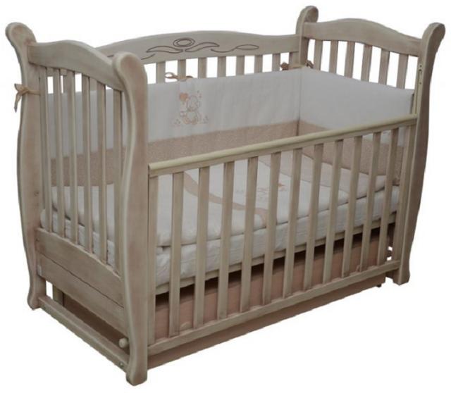 Детская кроватка Верес Соня ЛД 15 маятник+ящик (патина)