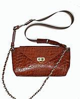 Кожаная сумка рыжая , фото 1