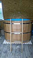 Бочка купель овальная SaunaLux (140х80 см, 500 л) с полипропиленовой вставкой, фото 1