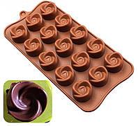 Форма для шоколадных конфет Завиток Роза