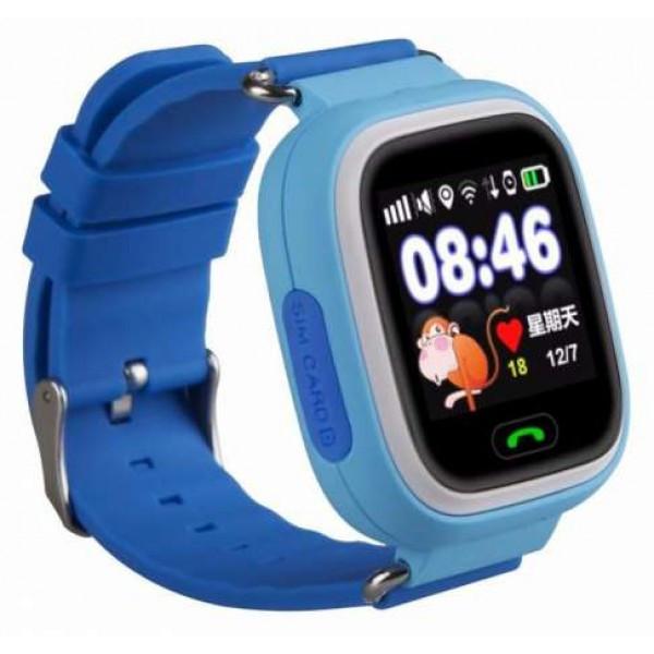 Детские умные часы Samtra Q90 с GPS голубые