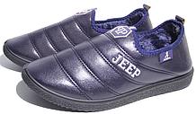 Женские полуботинки 26-08 синие (размер 38)