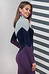 Тепле в'язане плаття для офісу щодня Ельза, 44-48, фото 7