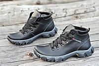 Ботинки   зимние мужские натуральная кожа, мех набивная шерсть черные (Код: Ш1226а) 44