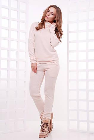 15bad563 Теплый женский спортивный ангоровый костюм-двойка: свитер-гольф и штаны с  карманами,