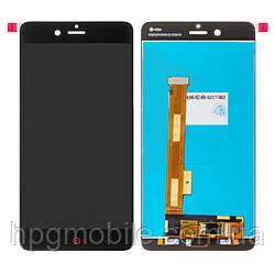 Дисплей для ZTE Nubia Z17 mini NX569J, модуль в сборе (экран и сенсор), черный, оригинал