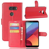 Чехол книжка для LG V30 Красный